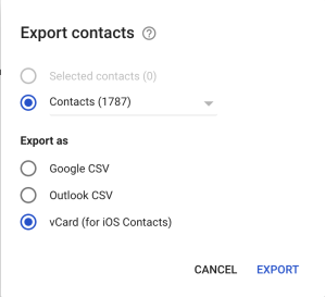 exportcontacts