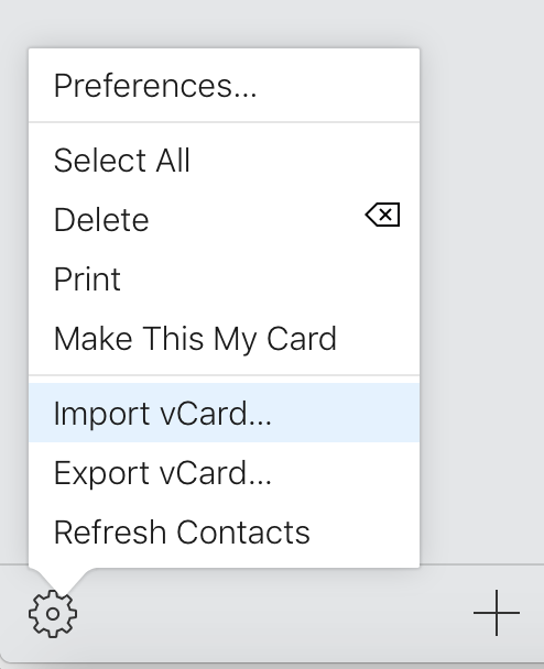 importvCard